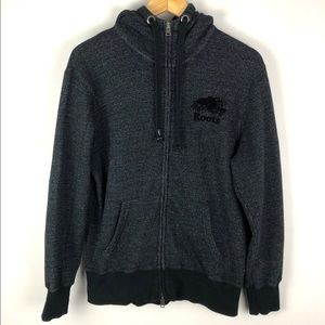 Roots Black Pepper Zip Up Men's